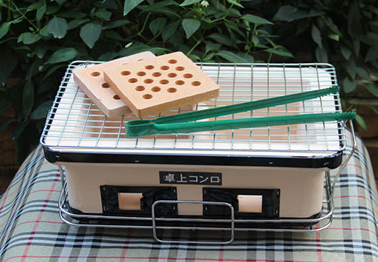 Table Top Japanese Mini Ceramic Grill Rectangle Outdoor